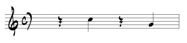 contre-temps en musique