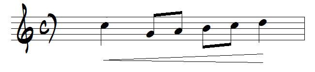 signe crescendo en musique