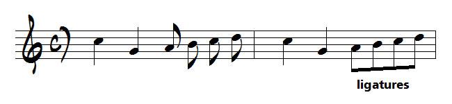 notes avec ligatures